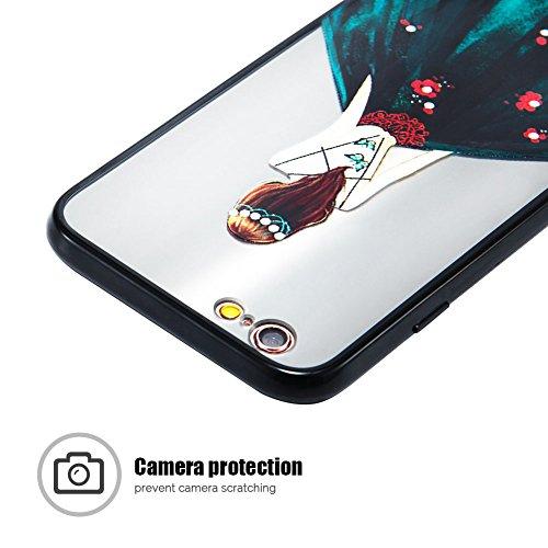 Cover iPhone 6 (4.7 pollici) Case iPhone 6S Custodia Spiritsun Moda Ultraslim TPU Case Elegante Carina Souple Flessibile Morbido Silicone Copertura Perfetta Protezione Shell Paraurti Custodia Per iPho Vestito Scuro Verde