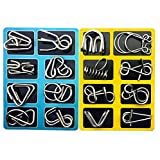 16 Stücke Metalldraht Puzzle Spielzeug Denkaufgabe Spiel Mind IQ Test Magic Ring Kinder Geschenk von Vovotrade (Silber)
