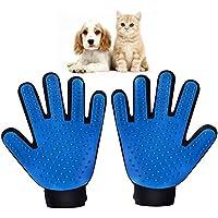 2pcs Guantes para Mascotas Perros Gatos Manopla Masaje para Mascotas Retiro del Pelo Aparato de Masaje Grooming de Mascotas y Baño de Cepillo y Peine(izquierda + derecha, 1 par)