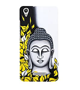 Prasanna Buddha 3D Hard Polycarbonate Designer Back Case Cover for Lava Iris Pixel V1