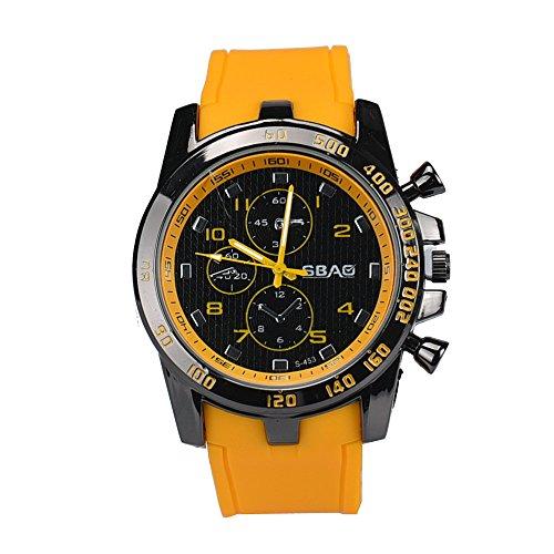 NEEKY Fitnessarmband mit, Armband, Herren Smartwatch,Sportuhren, Stoppuhren,Edelstahl-Luxussport-analoge Quarz-moderne Mann-Art- und Weisearmbanduhr BK