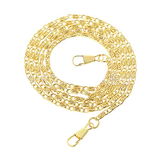 Taschen-Kette 120 cm Mehrzweck-DIY Metall Band Mode Ersatz Handtasche Retro Hardware Lange Durable Geldbörse Zubehör (Gold), Gold, Free Size