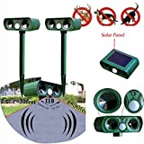 Generic 2PCS/LOT Ultrasonic Solar Power Pest Animal Repeller Repellent Garden Bat Cat Dog