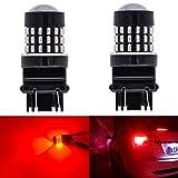 katur Lot de 2Super Bright 315730473057A 30573155301454SMD Objectif Ampoules LED de rechange tour queue signal de frein arrière de stationnement Stop RV Lumières 3,1W DC 12V Rouge
