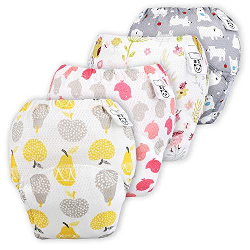 Flyish Baby Mädchen Trainerhosen Mädchen Training Unterwäsche Kleinkinder Windelhose Durchbrochene Töpfchen Trainingshose, Mädchen, 3 Jahre