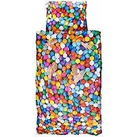 Snurk Ball Pitt Palline Copripiumino, Percalle, Multicolore, Singolo, 220x140x0.4 cm