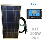 Kit 100W PRO 12V panel solar