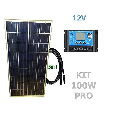 Kit 100W PRO 12V panneau solaire