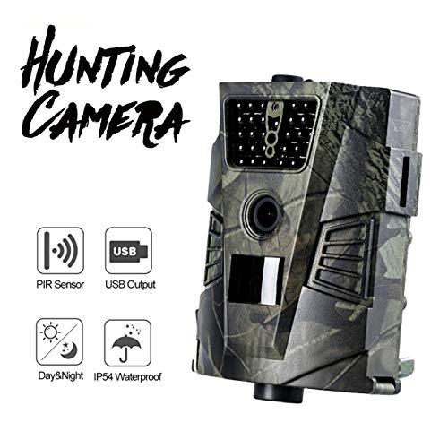 ZYG.GG Trail Wildlife-Kamera 1080P 12MP Wilde Jagd, Bewegung aktiviert Nachtsicht IP54 wasserdicht, für Outdoor Wildlife Monitoring und Home Security