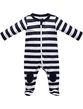 Baby Strampler Schlafanzug mit Füßen Größe 0-24 Monate Marine