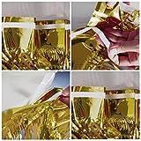 Metallic Fringe Foil Table Rock Tinsel Tabelle Vorhang für Luau Party-Geburtstags-Sommer-Jahrestag Weihnachten Tischdekoration Sunlera - 4