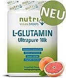 L-GLUTAMIN PULVER 500g Grapefruit - 99,95% rein - vegan & hochdosiert - sensationeller Geschmack - Nutri-Plus L-Glutamine Ultrapure Powder - hergestellt in Deutschland