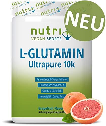 L-Glutamine Powder mit Geschmack - 500g Grapefruit Pulver - 99,95% rein - hochdosiert - sensationeller Geschmack - Nutri-Plus Ultrapure L-Glutamin - Made in Germany