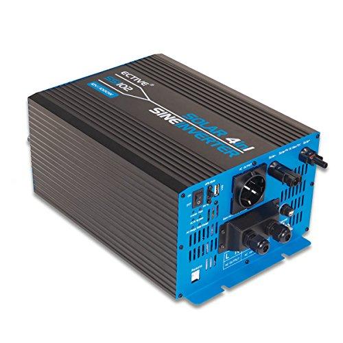 ECTIVE 1000W 24V zu 230V SSI-Serie Reiner Sinus Wechselrichter mit Ladegerät MPPT-Solarladeregler und NVS in 5 Varianten: 1000W - 3000W -