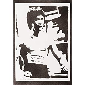 Bruce Lee Poster Plakat Handmade Graffiti Street Art – Artwork