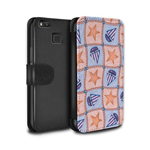 stuff4-pu-leather-wallet-flip-case-cover-for-huawei-p9-lite-peach-purple-design-boat-stars-pattern-c