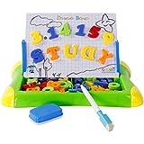 TONOR Tablero de dibujo con Letras y Números Magnéticos Juguetes Educativos 2 en 1 juego de aprendizaje