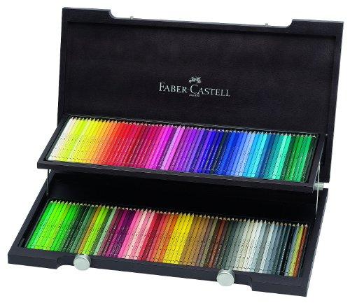 Faber-Castell 117513 – Estuche de madera con 120 ecolápices acuarelables, multicolor