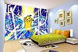 3D Pokemon Éclair Pikachu 885 Japan Anime Fond d'écran Mur Peintures Murales Amovible Peinture Murale   Auto-adhésif Papier Peint FR Summer (Papier tissé (besoin de colle), 【123'x87'】312x219cm(WxH))