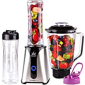 TZS First Austria - 2 in 1 Smoothie Maker mit Standmixer 0,6 Liter...
