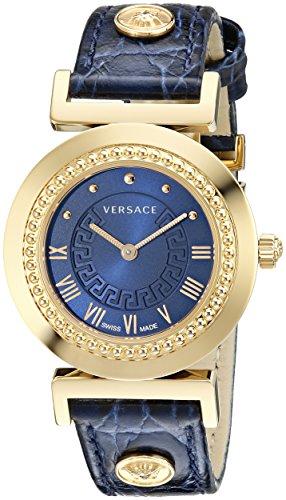 Versace Reloj Analógico para Mujer de Cuarzo con Correa en Cuero 7630030504419