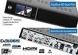 GigaBlue HD Quad PLUS schwarz 2x DVB-S2 2x DVB C/T HDTV Linux HbbTV LAN Sat/Kabel Receiver