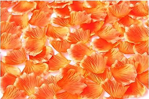 HJFF-1000~5000 pcs Verschiedene Hochzeit Dekorationen Farben silk Blume Rose Petals, Orange, 5000 (Silk Petal Kleid)
