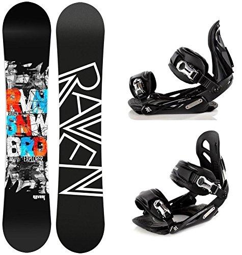 Snowboard Set: Snowboard Raven Explorer Gullwing + Bindung Raven s250 Black M/L