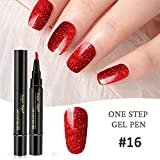 MERICAL 1 Pc 3 en 1 Etape Nail Gel Vernis À Laque Stylo Vernis Une Etape Nail to Use UV Gel