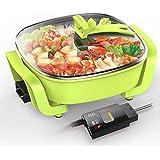 Cuisinière électrique Multifonctionnel Ménage Casserole anti-stick Hot Pot électrique Wok électrique 1500W