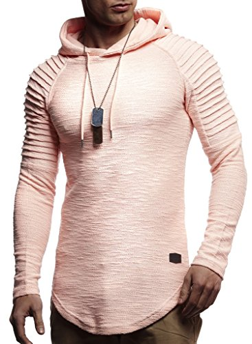 LEIF NELSON Herren Hoodie Pullover Kapuzenpullover T-Shirt Rundhals Ausschnitt Longsleeve Oversize Sweatshirt Hoody