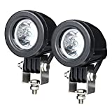 #9: Andride 10W Motorcycle light Mini Tail Cree Auto Led Offroad Lights Fog Lamp for Bicycle Motorcycle Jeep Wrangler Pack of 2