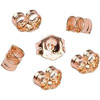 CCMART - Tuercas para pendientes de oro amarillo de 14 quilates – 6 piezas de repuesto para pendientes con una bolsa de joyería