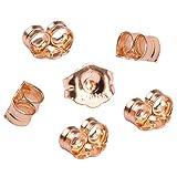 CCMart Lot de 6 fermoirs de boucles d'oreille en or jaune 14 carat, avec une pochette à bijoux