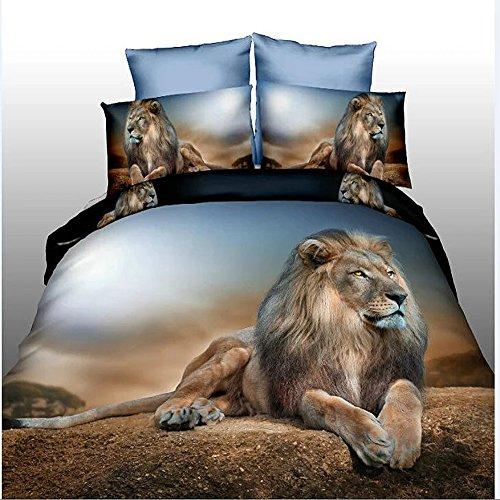 3D Desert Löwe 4bedrucktes Bettwäsche-Set Home Textile Bettwäsche Tröster Abdeckung für Doppel-Größe