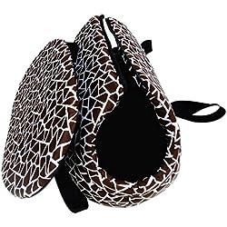 Bolsa de mano de animal domestico para viajes - SODIAL(R)Bolsa de mano de hombro de transporte de viaje para pequenas mascotas pequeno gato pequeno perro acolchada y suave plegable y lavable. cafe