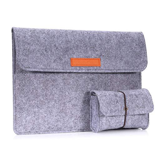 MoKo 10-11 Zoll Tablet Filz Sleeve Hülle - Laptoptasche Notebooktasche Laptop Schutzhülle Tasche für iPad Pro 11, iPad 10.2 2019, iPad Air 3 10.5