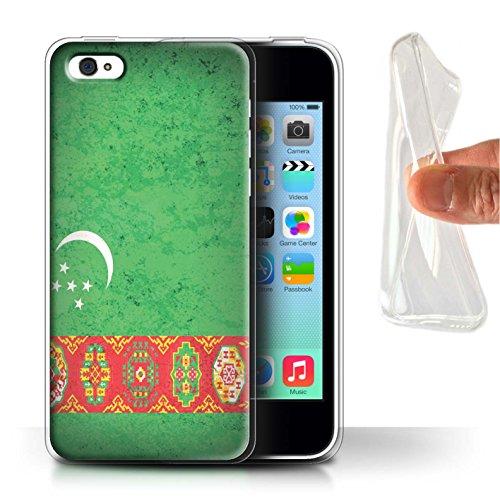 Stuff4 Gel TPU Hülle / Case für Apple iPhone 7 Plus / Philippinen Muster / Asien Flagge Kollektion Turkmenistan/Türkmen