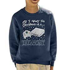 Coto7 All I Want For Christmas Is A Dreamcast Kid's Sweatshirt