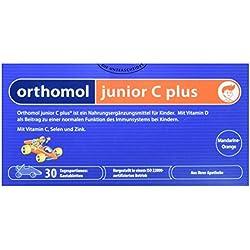 Orthomol junior C plus 30er Kautabletten Mandarine-Orange - Nahrungsergänzungsmittel für Kinder - Immunsystem Vitamine