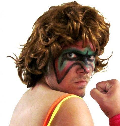 Kostüm Ultimate Wrestling Warrior - Costume Agent Extreme Warrior Wrestling Kostüm Perücke