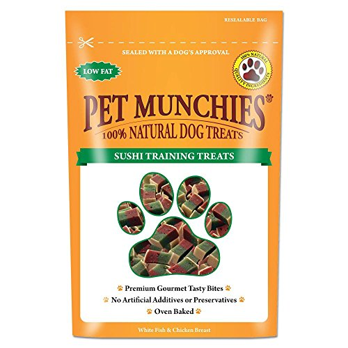 Pet Munchies 100% natürliche Hunde-Trainingsleckerli (50 g) (Sushi)