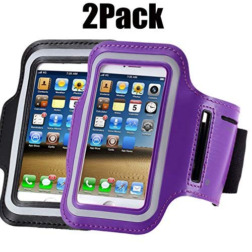 buy popular e0be8 d4613 Armband For iPhone 7/6/6S Plus, LG G6 G5, Galaxy s8 s7 s6 Edge s8+,Note  5.etc.CaseHQ Adjustable Reflective Velcro Sport Exercise Running Pouch Key  ...