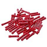 TOOGOO(R) 50x terminales de crimpado terminales d conector de cable de empalmes aislados Productos industriales rojo 0,5 mm 1,5 mm2