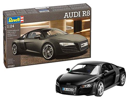 Revell Modellbausatz Auto 1:24 - Audi R8 im Maßstab 1:24, Level 4, originalgetreue Nachbildung mit Vielen Details, 07057