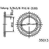 f/ür Yamaha YZF R1 RN09 2002-2003 5//8x3//8 Ritzel 14 Z/ähne Stahl 530er Teilung