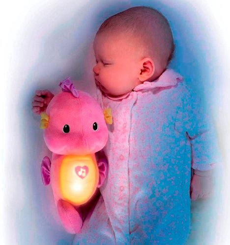 Toyland Fisher Price Soothe and Glow Seahorse Baby Soother Pink.