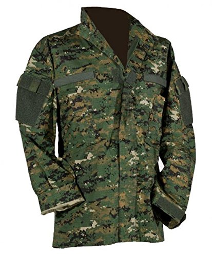 US Feldjacke M65 Feldparka ACU All Digital Combat Uniform Wind- und Nässeschutz Herbstjacke in verschiedenen Farben S-3XL (L, Digital Woodland Tarn) - Digital Woodland Bdu Shirt