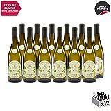 Vin de Savoie Jacquère'Le Minéral' Blanc 2018 - Maison Perret - Vin AOC Blanc de Savoie - Bugey - Cépage Jacquère - Lot de 12x75cl
