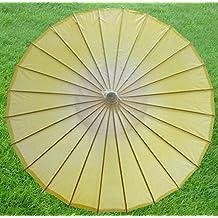 dd69bdfce4491 HSDDA Cinese Paper Parasol Umbrella Bamboo Oliato Ombrello Matrimonio  (Dorato)